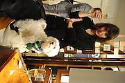 HELEN WENZEL; MAXI, Jonathan Adler Store opening. Sloane St. London. 16 November 2011. <br /> <br />  , -DO NOT ARCHIVE-© Copyright Photograph by Dafydd Jones. 248 Clapham Rd. London SW9 0PZ. Tel 0207 820 0771. www.dafjones.com.