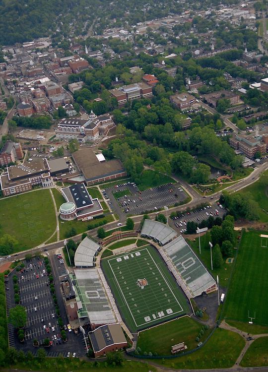 Aerial view of Peden Stadium and Ohio University. © Ohio University