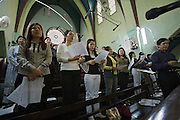 Old Town, Sunday mass at St. Joseph Cathedral. The choir.