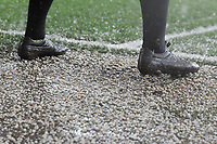 Football - 2016 / 2017 FA Cup - Fourth Round: Crystal Palace vs. Manchester City<br /> <br /> Hail Stones fall on the feet of the linesman at Selhurst Park.<br /> <br /> COLORSPORT/ANDREW COWIE