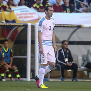 Uruguay Defender DIEGO GODIN (3) walks onto the field  in the first half of a Copa America Centenario Group C match between Uruguay and Venezuela Thursday, June. 09, 2016 at Lincoln Financial Field in Philadelphia, PA.