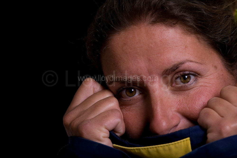 "Portraits of Dee Caffari, who skippers the IMOCA Open 60 boat AVIVA, as she prepares for the Vendee Globe start in November 2008...Caffari is about to embark on the round the world race which will make her the first woman to have sailed single handed around the world in both directions...All pictures must be credited ""Lloyd Images"""