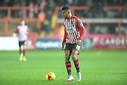 Jamie Reid during the Sky Bet League 2 match between Exeter City and Bristol Rovers at St James' Park, Exeter, England on 28 November 2015. Photo by Graham Hunt.