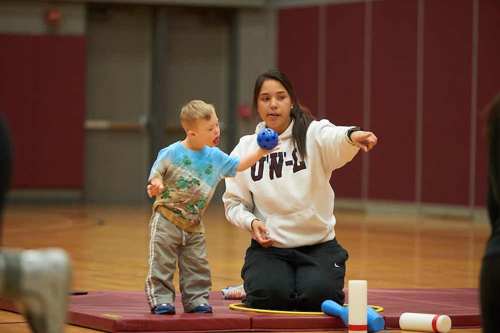 Activity; Community Service; Volunteering; Buildings; Mitchell Hall Fieldhouse; Location; Inside; People; Student Students; Children; Spring; April; Type of Photography; Candid; UWL UW-L UW-La Crosse University of Wisconsin-La Crosse