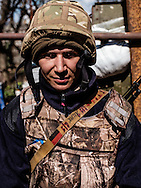 """Anthony, 23 years old, soldier with Pravyi Sektor in the commander """"Batman"""" unit."""