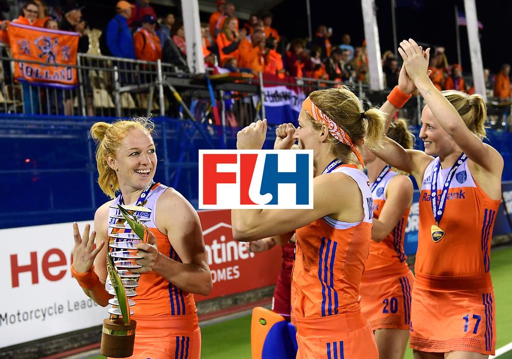 AUCKLAND - Sentinel Hockey World League final women<br /> Match id:10322<br /> 22 NED v NZL (Final)<br /> Foto: <br /> Netherlands wins the Sentinel Hockey World League<br /> WORLDSPORTPICS COPYRIGHT FRANK UIJLENBROEK