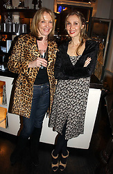 Left to right, SUSAN WHITELEY and ALLEGRA HICKS at a party to showcase jewellery by 77 Diamonds and Limor, held at Allegra Hicks, 28 Cadogan Place, London on 7th December 2006.<br /><br />NON EXCLUSIVE - WORLD RIGHTS