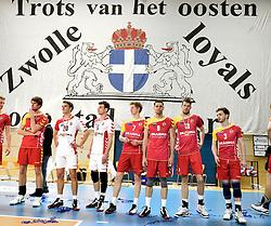 12-04-2014 NED: Finale Landstede Volleybal - Draisma Dynamo, Zwolle<br /> Landstede Volleybal pakt het kampioenschap door Dynamo met 3-0 te verslaan / Teleurgestelde spelers van Dynamo