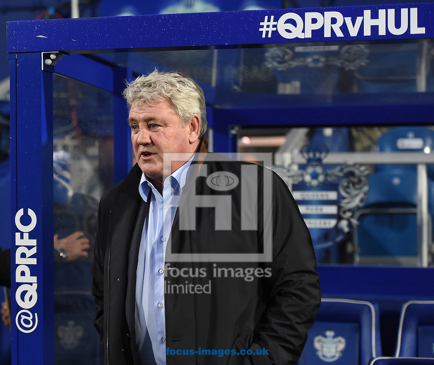 Steve Bruce, manager of Hull City prior to the Sky Bet Championship match at the Loftus Road Stadium, London<br /> Picture by Daniel Hambury/Focus Images Ltd +44 7813 022858<br /> 01/01/2016