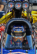 Anton Brown getting ready for his NHRA top fuel race at Memphis Motorsports Park.