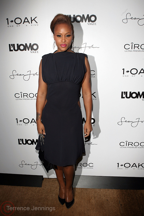 "Eve pictured at the cocktail party celebrating Sean ""Diddy"" Combs appearance on the "" Black on Black "" cover of L'Uomo Vogue's October Music Issue"