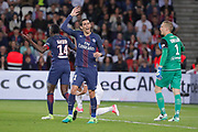 Angel Di Maria (psg), Blaise Mathuidi (psg), Karl-Johan JOHNSSON (En Avant Guingamp) during the French Championship Ligue 1 football match between Paris Saint-Germain and EA Guingamp on April 9, 2017 at Parc des Princes stadium in Paris, France - Photo Stephane Allaman / ProSportsImages / DPPI