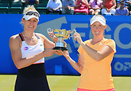 MONIQUE ADAMCZAK/STORM SANDERS (beide AUS) mit Pokal, Sieger im  Doubles FinalAEGON Open Nottingham 2017<br /> <br /> Tennis -  Nottingham Open 2017 - WTA -   Nottingham Tennis Centre, Nottingham, Nottinghamshire, - Nottingham -  - Great Britain  - 18 June 2017. <br /> &copy; Juergen Hasenkopf