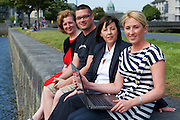 Jacinta Lynam, web activator,  Richard Conroy, Web Activator, Ann Heneghan, (Solicitors Heneghan & Assoc., Joyce House Galway, Aishling Hyland, Tír na nÓg. Photo:Andrew Downes.