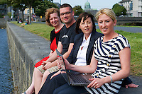 Jacinta Lynam, web activator,  Richard Conroy, Web Activator, Ann Heneghan, (Solicitors Heneghan & Assoc., Joyce House Galway, Aishling Hyland, Tír na nÓg. Photo:Andrew Downes.