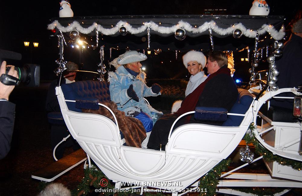 Kerstborrel Princess 2004, koets met Marisca van Kolck