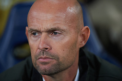 February 21, 2019 - Villarreal, Castellon, Spain - Head coach Marcel Keizer of Sporting Lisboa during the UEFA Europa League Round of 32 Second Leg match between Villarreal and Sporting Lisboa at Estadio de La Ceramica on February 21, 2019 in Vila-real, Spain. (Credit Image: © AFP7 via ZUMA Wire)