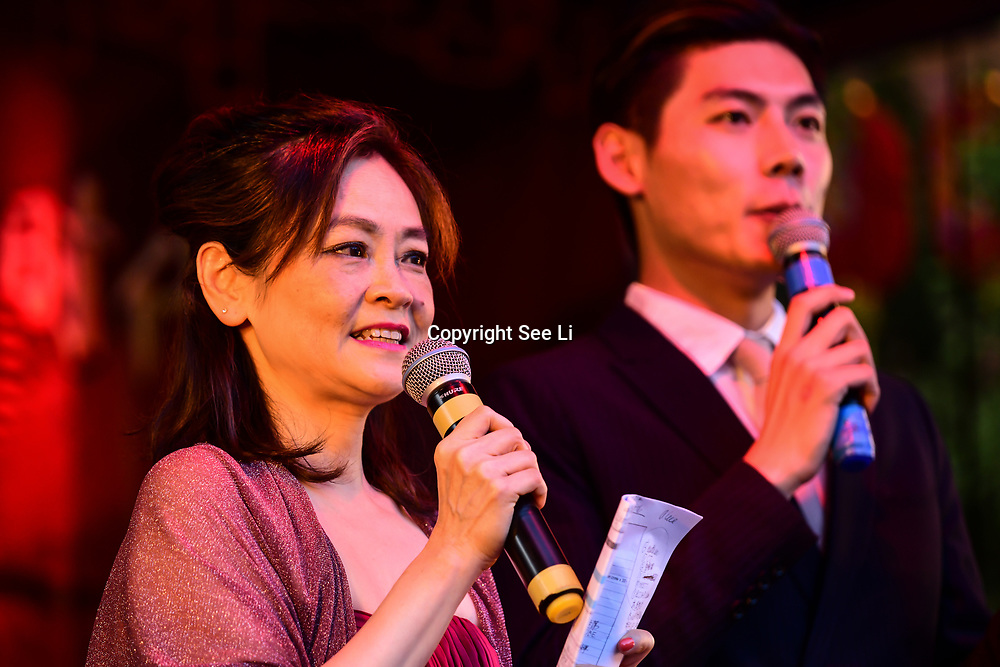 Dj Alice and Shuo Yang is a presenter for the Moon festival - The big feast for the chinese community and the 70th Anniversary of China at Chinatown Square on the 15th September 2019, London, UK.