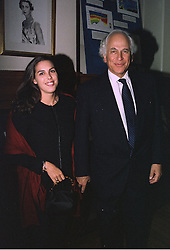 SIR EVELYN DE ROTHSCHILD and his daughter MISS JESSICA DE ROTHSCHILD, at a party in London on 7th October 1997.MBY 108