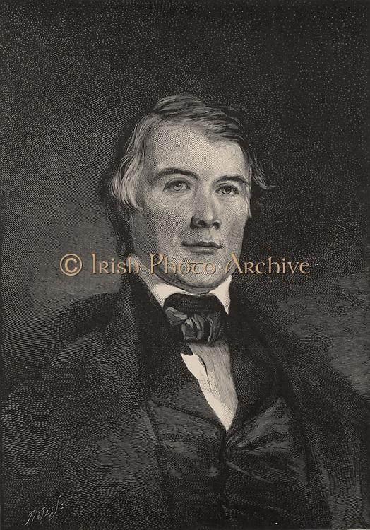 James Pollard Espy (1785-1860), American meteorologist, known as the Storm King. Engraving, 1896.