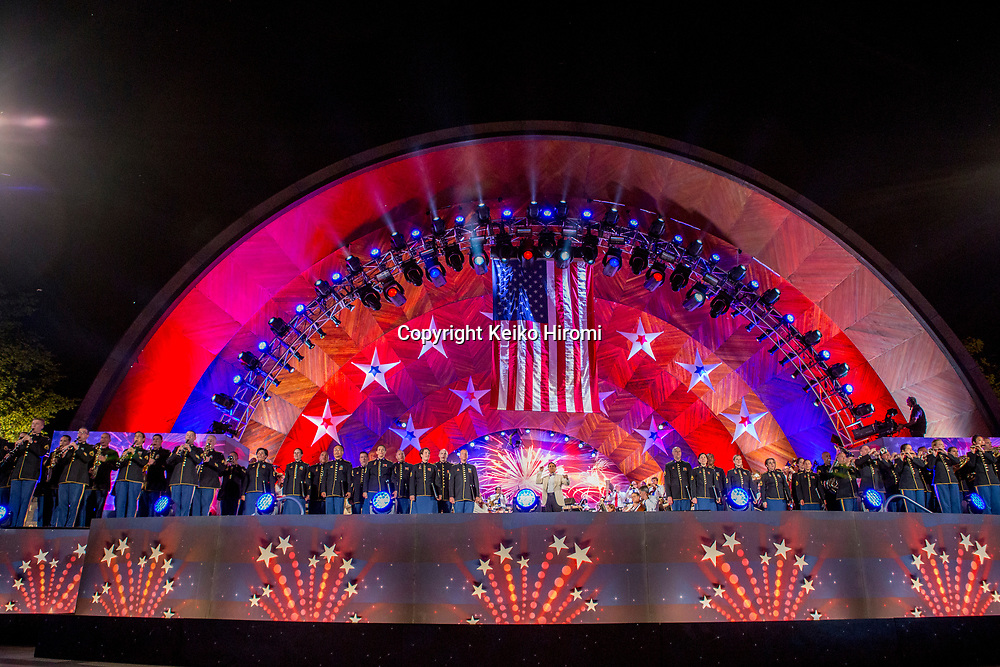 July 3, 2017, Esplanade, Boston, Massachusetts, USA:Boston Pops conductor Keith Lockhart during a rehearsal concert for the annual Boston Pops Fireworks Spectacular on the Esplanade in Boston.