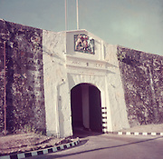 Nigel Knight Collection. <br /> Entrance to Fort Frederick in Trincomalee.