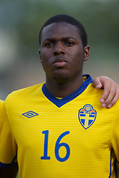FLINT, WALES - Thursday, May 12, 2011: Sweden's Christian Kouakou during the Men's Under-17's International Friendly match against Wales at Cae-y-Castell. (Photo by David Rawcliffe/Propaganda)