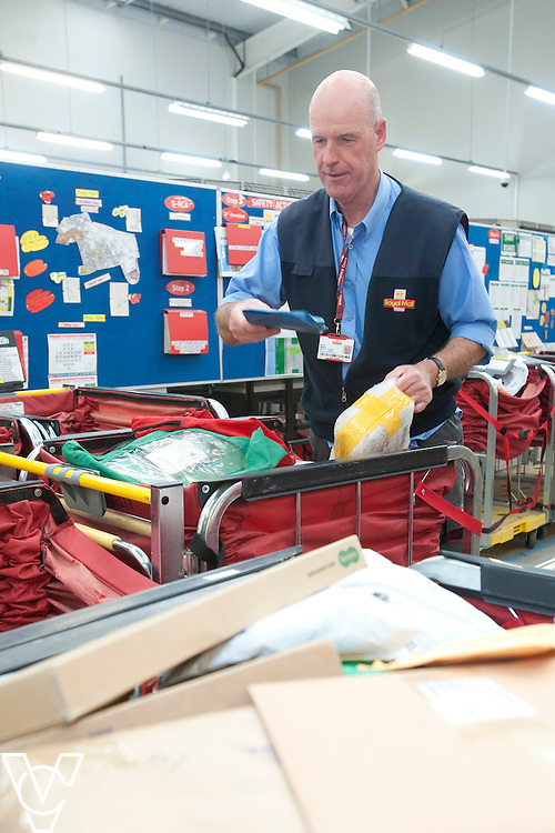 Pictured is Mike Shearer<br /> <br /> Royal Mail - North West Delivery Office.  Bronze in the World Class Mail Awards.<br /> <br /> Date: April 28, 2015
