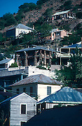 Houses climb the steep hills of the historic mining town of Bisbee, Arizona.©1988 Edward McCain. All rights reserved. McCain Photography, McCain Creative, Inc.