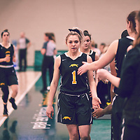 1st year guard, Madeleine Tell (15) of the Regina Cougars during the Women's Basketball Home Game on Fri Feb 15 at Centre for Kinesiology,Health and Sport. Credit: Arthur Ward/Arthur Images