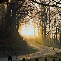 April morning along Iselboro Road in Hocking Hills Ohio