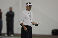 Offensive coordinator David Lee during Ole Miss' spring practice at the IPF in Oxford, Miss. on Monday, March 28, 2011.
