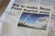 Lowestoft Journal newspaper article about making Ness Point a tourist area, Suffolk, England