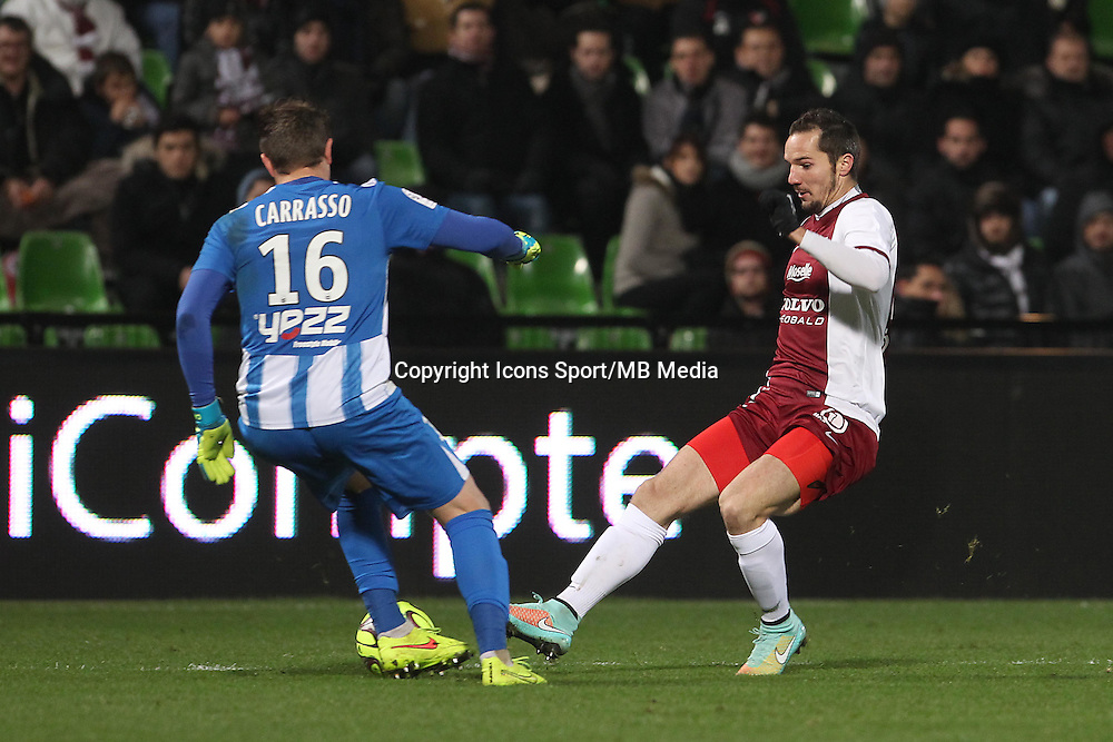 Cedric CARRASSO / Kevin LEJEUNE - 03.12.2014 - Metz / Bordeaux - 16eme journee de Ligue 1 -<br />