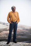 PEMAQUID POINT, MAINE – JULY 30, 2014:  Douglas Preston, a bestselling author with Hachette Publishing, has become a leading opponent of Amazon in the conflict between retailer and publishers. <br /> <br /> Credit: Craig Dilger for The New York Times