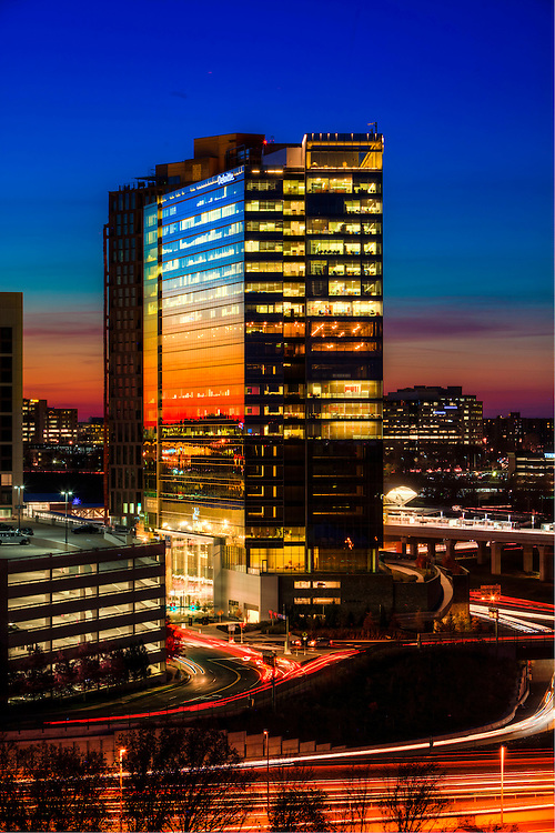 deloitte headquarters in McLean Virginia at sunset