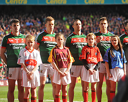 Club and County lined up at the All Ireland Football Final.<br /> Pic Conor McKeown