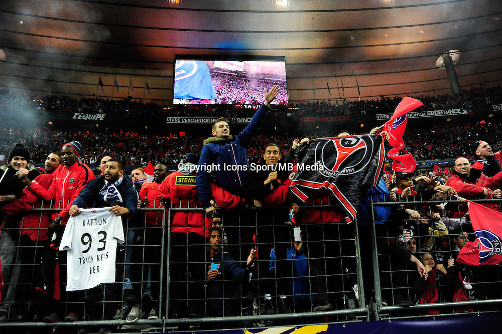 Supporters PSG    - 11.04.2015 -  Bastia / PSG - Finale de la Coupe de la Ligue 2015<br />Photo : Dave Winter / Icon Sport