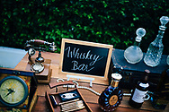 A whiskey bar settup at a beach wedding in Ko Samui, Thailand, Southeast Asia