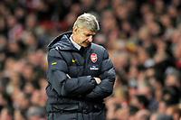 Arsene Wenger (Arsenal manager) looks fed up. Arsenal Vs Aston Villa. Barclays Premier League. Emirates Stadium. London. 15/11/2008. Credit Colorsport/Garry Bowden