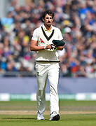 Mitchell Starc of Australia during the International Test Match 2019, fourth test, day three match between England and Australia at Old Trafford, Manchester, England on 6 September 2019.
