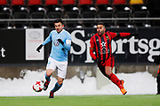 OSTERSUND, SWEDEN - MARCH 17: Behrang Safari of Malmo FF and Saman Ghoddos of Ostersunds FK during the Swedish Cup Semifinal between Ostersunds FK and Malmo FF at Jamtkraft Arena on March 17, 2018 in Ostersund, Sweden. Photo: Nils Petter Nilsson/Ombrello ***BETALBILD***