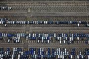 Nederland, Limburg, Gemeente Sittard-Geleen, 15-11-2010; Born, parkeerterrein fabriek Nedcar ..Parking of the Nedcar plant..luchtfoto (toeslag), aerial photo (additional fee required).copyright foto/photo Siebe Swart