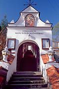 Entrance to reformats monastery in Kazimierz Dolny, Poland. Kazimierz Dolny in Poland photogrsphy by Piotr Gesicki