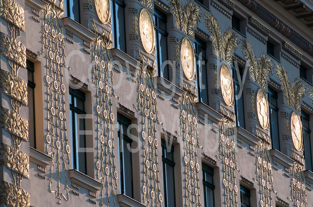 Jugendstilhaus an der Wienzeile, Wien, Österreich .|.art nouveau building on Wienzeile, Vienna, Austria..