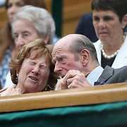 LONDON, ENGLAND - JULY 15:  Prince Edward, Duke of Kent at the Ladies Singles Final match between Garbine Muguruza of Spain against Venus Williams of The United States in the Wimbledon Lawn Tennis Championships at the All England Lawn Tennis and Croquet Club at Wimbledon on July 15, 2017 in London, England. (Photo by Tim Clayton/Corbis via Getty Images)