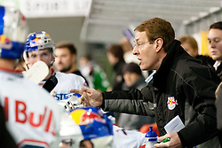 Pierre Page, head coach of Red Bull Salzburg, during ice-hockey match between HDD Tilia Olimpija and EC Red Bull Salzburg in 26th Round of EBEL league, on November 27, 2011 at Hala Tivoli, Ljubljana, Slovenia. Red Bull Salzburg defeated HDD Tilia Olimpija 6:5 in overtime. (Photo By Matic Klansek Velej / Sportida)