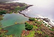 Kaloko Fishpond, Kaloko-Honokohau National Historical Park, Honokahau, Kona, Island of Hawaii, Hawaii