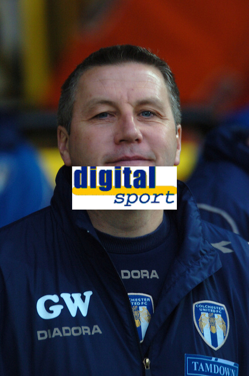 Photo: Tony Oudot/Sportsbeat Images.<br /> Watford v Colchester United. Coca Cola Championship. 10/11/2007.<br /> Colchester United manager Geraint Williams