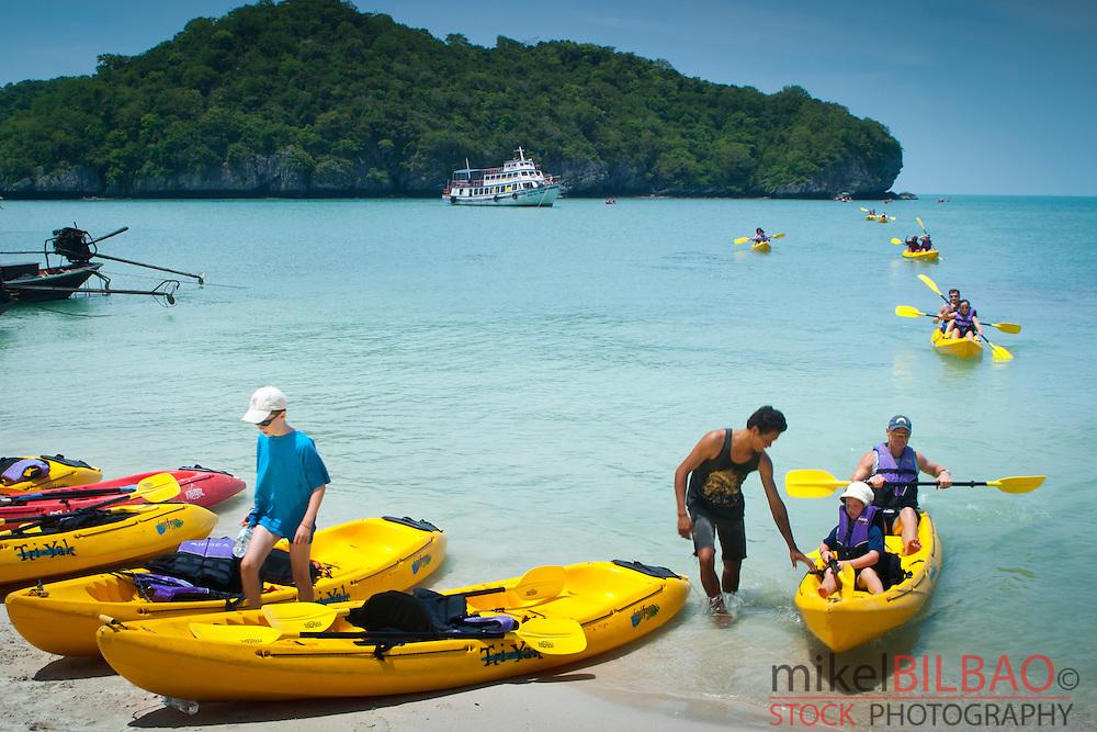 Kayak. Ang Thong marine National Park. Gulf of Thailand. Thailand.